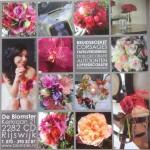 """Flyer Bloemenwinkel """"De Blomster"""" Fotografie: 2rings.nl Bruid op foto haar en make-up door: Irene van der Hart"""